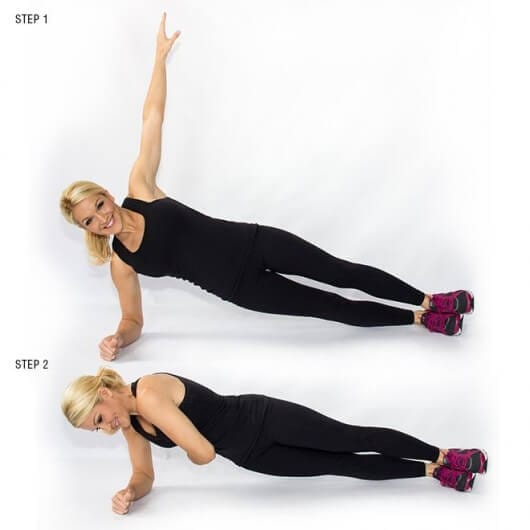 Side Plank With Arm Twist